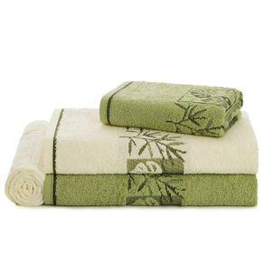 Jogo-de-Banho-Karsten-Fio-Cardado-4-Pecas-Magnolia-Ivory-Verde-Folha-Verde