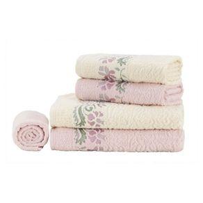 Jogo-de-Banho-Karsten-Fio-Penteado-5-Pecas-Aurora-Natural-Rose