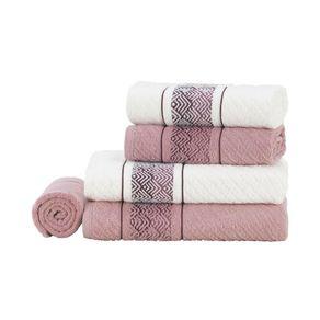 Jogo-de-Banho-Karsten-Fio-Cardado-5-Pecas-Colin-Branco-Lady-Pink-Rosa