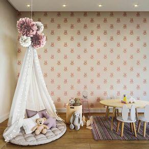 Tecido-para-Parede-Karsten-Wall-Decor-Teddy-Rosa