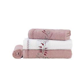 Jogo-de-Banho-Karsten-Fio-Cardado-4-Pecas-Analu-Branco-Lady-Pink-Vermelho