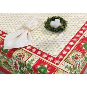 Toalha-de-mesa-de-Natal-Quadrada-Karsten-4-lugares-Tempo-de-Celebrar