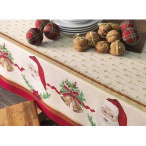 Toalha-de-mesa-de-Natal-Quadrada-Karsten-4-lugares-Tempo-de-Abracar