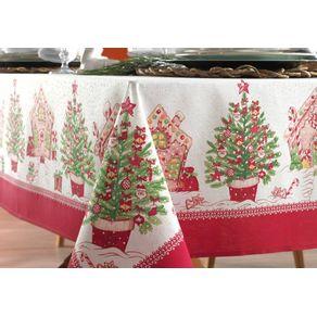 Toalha-de-mesa-de-Natal-Redonda-Karsten-4-lugares-Tempo-de-Apreciar
