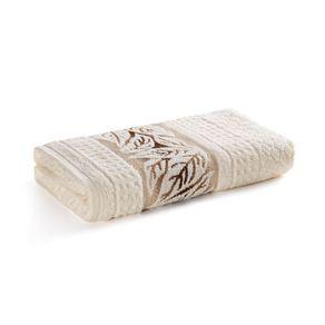 Toalha-de-Rosto-Karsten-Fio-Cardado-Lins-Ivory-Marrom