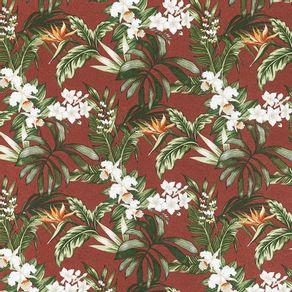 Tecido-Acquablock-Karsten-Impermeavel-Floralis-Terracota