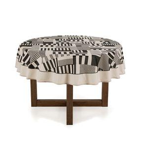 Toalha-de-mesa-Redonda-Karsten-6-Lugares-Sempre-Limpa-Mosaico