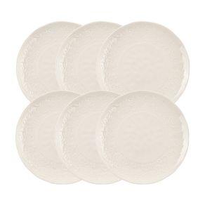 Jogo-de-Pratos-Jantar-Karsten-Home-6-Pecas-Porcelana-Renda-Branco