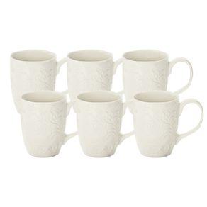 Jogo-de-Canecas-Karsten-Home-6-Pecas-500ml-Porcelana-Renda-Branco