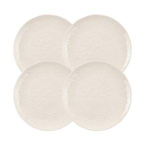 Jogo-de-Pratos-Jantar-Karsten-Home-4-Pecas-Porcelana-Renda-Branco
