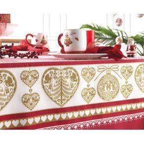 Toalha-de-mesa-de-Natal-Redonda-Karsten-4-lugares-Tempo-de-Acreditar