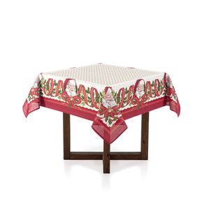 Toalha-de-mesa-de-Natal-Quadrada-Karsten-4-lugares-Sinos-do-Noel