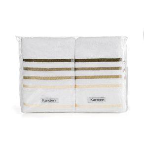 Toalha-de-Lavabo-Visita-Karsten-2-Pecas-PVC-Lumina-Branco-Marrom
