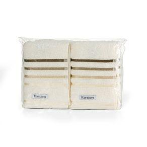 Toalha-de-Lavabo-Visita-Karsten-2-Pecas-PVC-Lumina-Ivory-Marrom