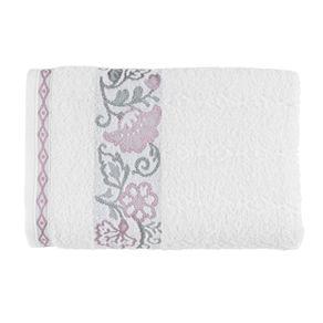 Toalha-Banhao-Karsten-Fio-Cardado-Elis-Branco-Rosa-Branco