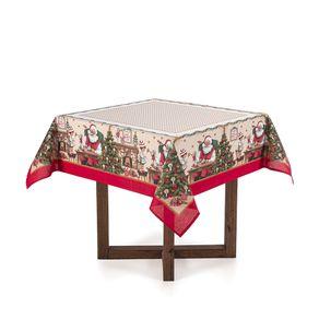 Toalha-de-mesa-de-Natal-Quadrada-Karsten-4-lugares-Fabulas-Branco