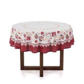 Toalha-de-mesa-de-Natal-Redonda-Karsten-4-lugares-Cafe-do-Noel-Branco