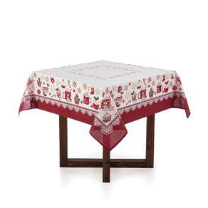 Toalha-de-mesa-de-Natal-Quadrada-Karsten-4-lugares-Cafe-do-Noel-Branco