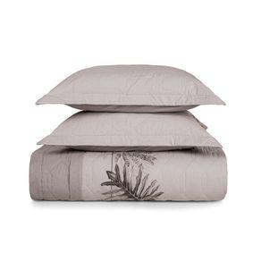 Cobre-Leito-Casal-Karsten-com-2-Porta-Travesseiros-180-Fios-Percal-Taiga