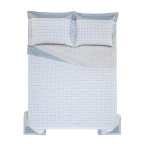 Cobre-Leito-Queen-Karsten-com-2-Porta-Travesseiros-180-Fios-Percal-Nodari