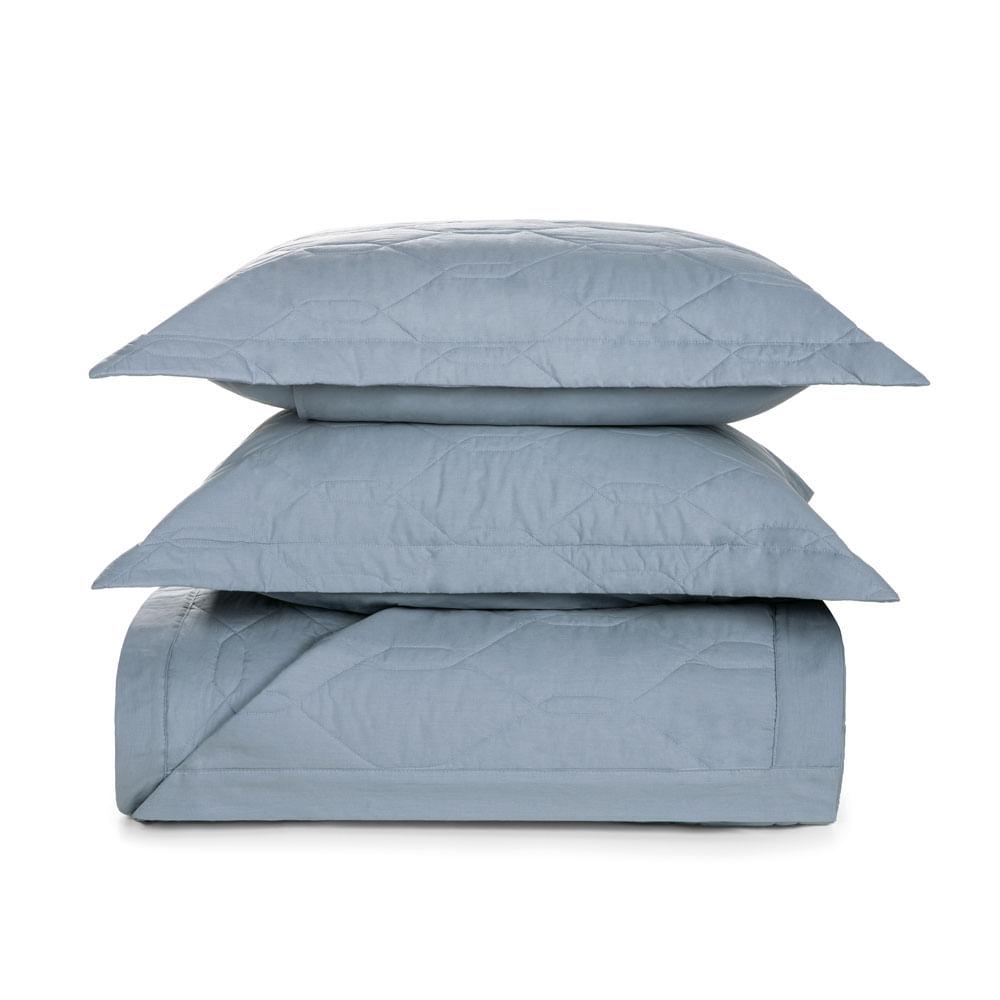 Cobre-Leito-Queen-Karsten-com-2-Porta-Travesseiros-180-Fios-Percal-Liss-Allure