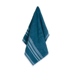 Toalha-de-Rosto-Karsten-Fio-Open-End-Muniz-Azul-Petroleo--Branco--Azul