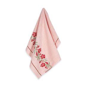 Toalha-de-Rosto-Karsten-Fio-Cardado-Caren-Rose--Vermelho--Verde