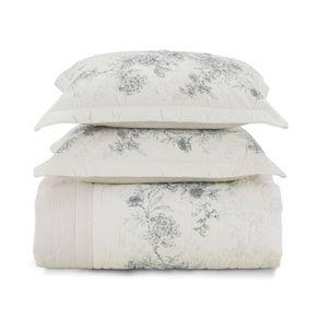 Cobre-Leito-Queen-Karsten-com-2-Porta-Travesseiros-180-Fios-Percal-Livia-Branco