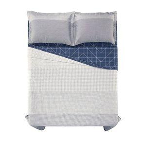 Cobre-Leito-Queen-Karsten-com-2-Porta-Travesseiros-180-Fios-Percal-Orlando-Branco
