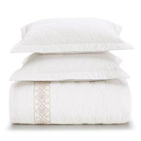 Cobre-Leito-Queen-Karsten-com-2-Porta-Travesseiros-180-Fios-Percal-Olimpia-Branco