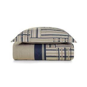 Cobre-Leito-Solteiro-Karsten-com-1-Porta-Travesseiros-180-Fios-Percal-Munari