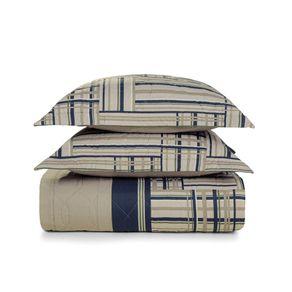 Cobre-Leito-Casal-Karsten-com-2-Porta-Travesseiros-180-Fios-Percal-Munari