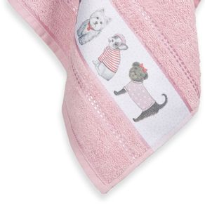 Toalha-de-Rosto-Infantil-Fio-Cardado-Karsten-Mary-Jane-Rosa-Tutu-Branco