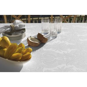 Toalha-de-mesa-Retangular-Karsten-8-lugares-Sempre-Limpa-Tropical-Branco-Branco
