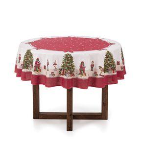 Toalha-de-mesa-de-Natal-Redonda-Karsten-4-lugares-Arvore-Encantada-Branco