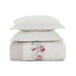 Cobre-Leito-Casal-Karsten-com-2-Porta-Travesseiros-180-Fios-Percal-Lauren-Branco