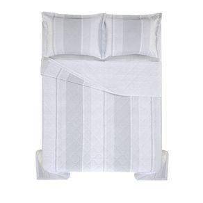 Cobre-Leito-Queen-Karsten-com-2-Porta-Travesseiros-180-Fios-Percal-Marfino