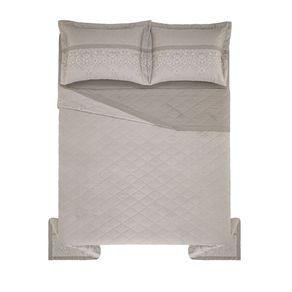 Cobre-Leito-Queen-Karsten-com-2-Porta-Travesseiros-150-Fios-Percal-Acanto