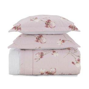 Cobre-Leito-Queen-Karsten-com-2-Porta-Travesseiros-180-Fios-Percal-Iris-Branco
