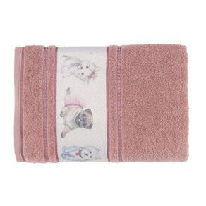 Toalha-de-Banho-Infantil-Fio-Cardado-Karsten-Mary-Jane-Lady-Pink-Branco