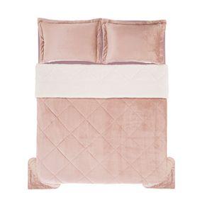 Edredom-de-Microfibra-Casal-Karsten-com-Porta-Travesseiro-Sonata-Rose