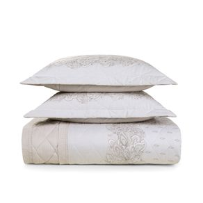 Cobre-Leito-Queen-Karsten-com-2-Porta-Travesseiros-150-Fios-Percal-Jordania