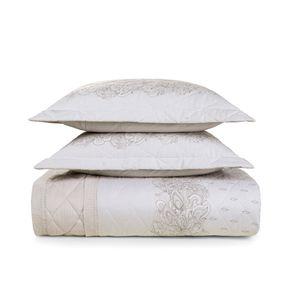 Cobre-Leito-King-Karsten-com-2-Porta-Travesseiros-150-Fios-Percal-Jordania