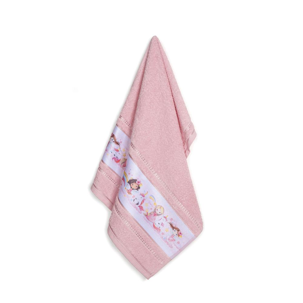 Toalha-de-Rosto-Infantil-Fio-Cardado-Karsten-Encantada-Rosa-Tutu