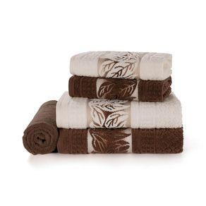 Jogo-de-Banho-Karsten-Fio-Cardado-5-Pecas-Lins-Ivory--Chocolate
