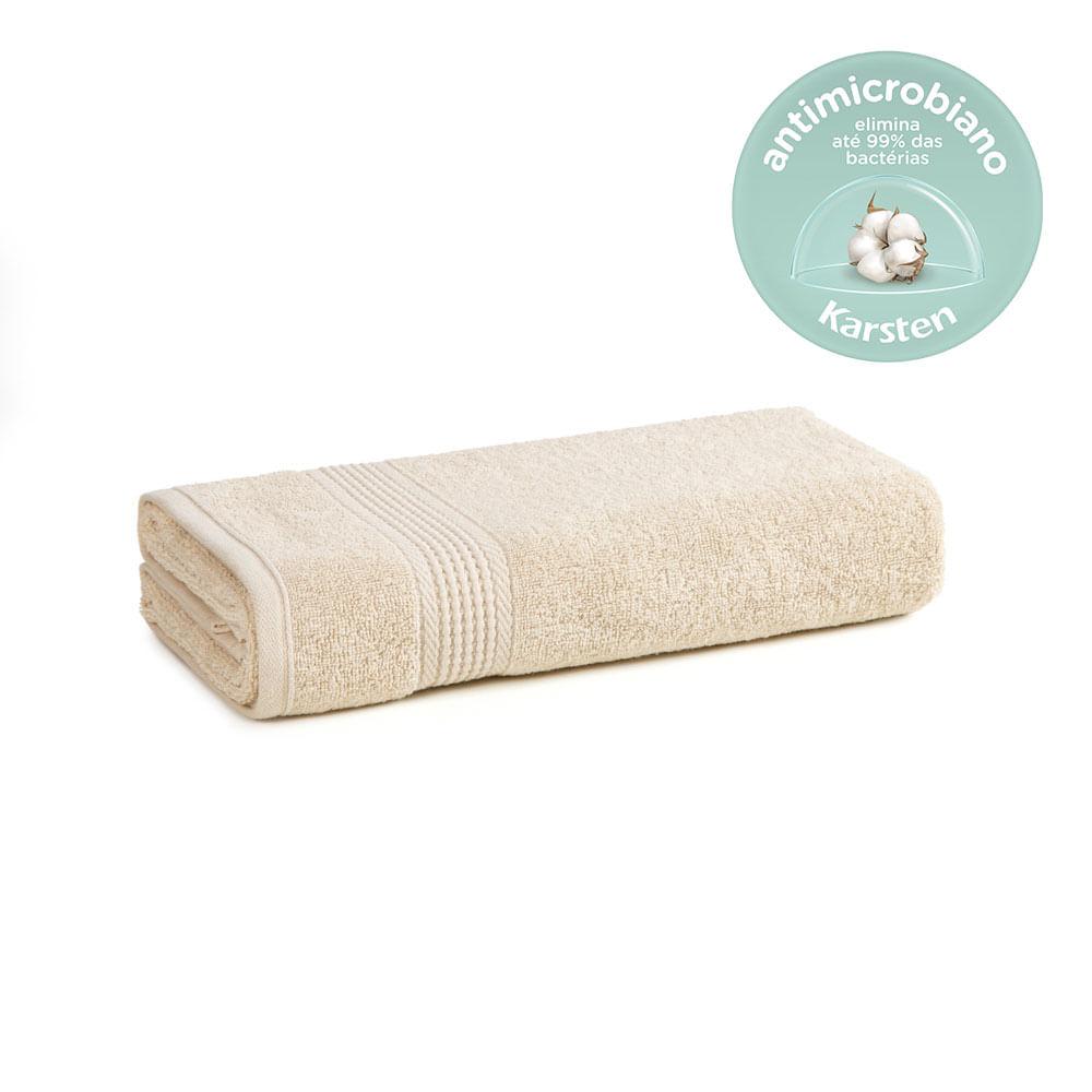 Toalha-de-Rosto-Karsten-Antimicrobiana-Fio-Cardado-Hera-Bege-Bone