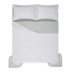 Cobre-Leito-Casal-Karsten-com-2-Porta-Travesseiros-270-Fios-Cetim-Celina
