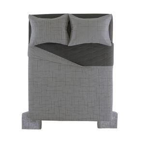 Cobre-Leito-Casal-Karsten-com-2-Porta-Travesseiros-150-Fios-Salles