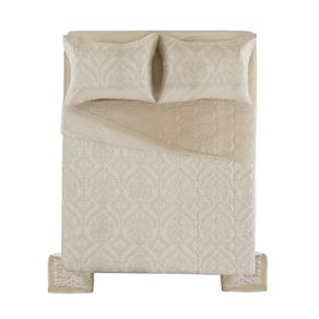 Cobre-Leito-King-Karsten-com-2-Porta-Travesseiros-180-Fios-Percal-Monise
