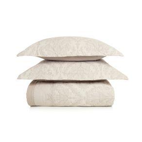 Cobre-Leito-Queen-Karsten-com-2-Porta-Travesseiros-180-Fios-Percal-Monise